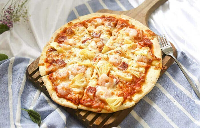 夏威夷海鲜薄披萨